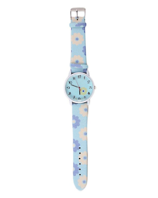 Style and Comfort Sky Blue Leather Watch for Women - LW-2148