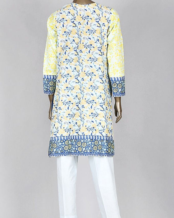 Junaid Jamshed Teal Blue Lawn 3-Piece Unstitched Suit for Women