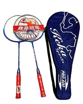 Pack of 2 - Keka Badminton Rackets - Red & Blue