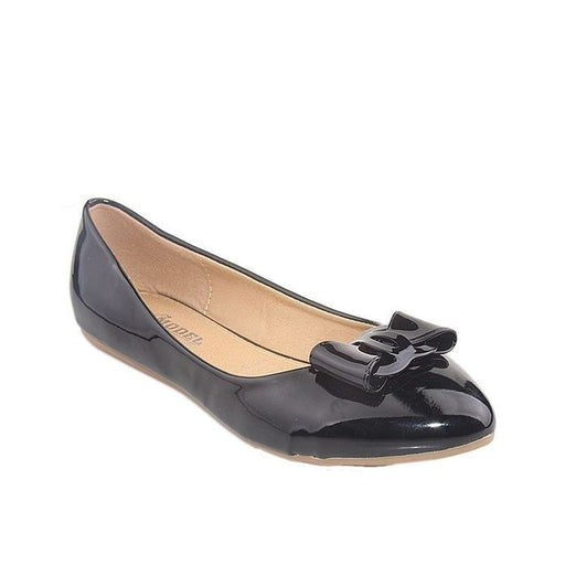 Maya Traders Black Synthetic Leather Fancy Pumps for Women - J26