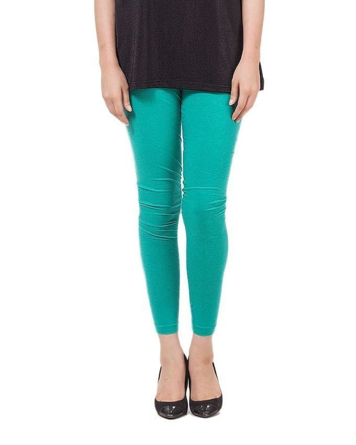 QK Styles Sea Green Viscose Tights For Women