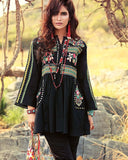 Gul Ahmed Black Festive Collection 2017 Gypsy 3 Pc Bamber Embroidered-GL # 02 Unstitched