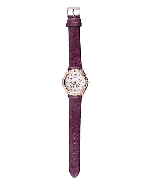 Style and Comfort Purple Leather Watch for Women - LW-2144