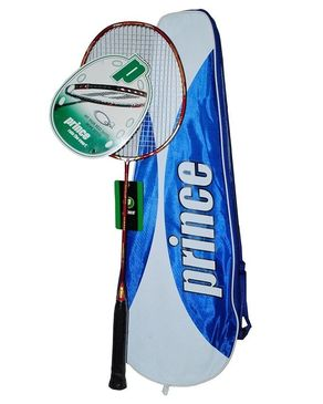 Badminton Racket with Cover - Dark Red