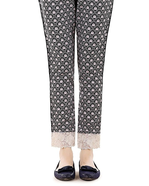 Lala Black Cambric Print Fantaisie Trouser Collection