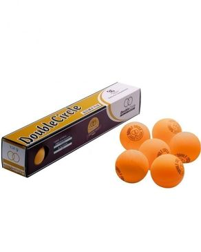 Click Here Pack of 6 - Double Circle Table Tennis Balls - Orange