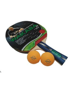 Wakaba 60 - Table Tennis Racket Set - Red