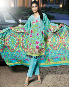 Gul Ahmed Turquoise Spring/Summer 2017 Collection Printed Lawn-CL # 225 B