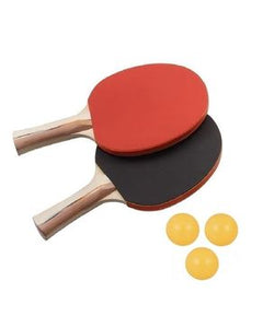 Table Tennis Rackets with Balls - Pack of 5