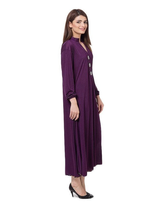 QK Styles Purple Viscose Jalpari Kurti For Her