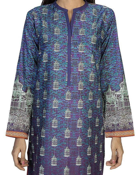 Gul Ahmed Purple Cambric Gul Ahmed Pret Wear Collection Kurta
