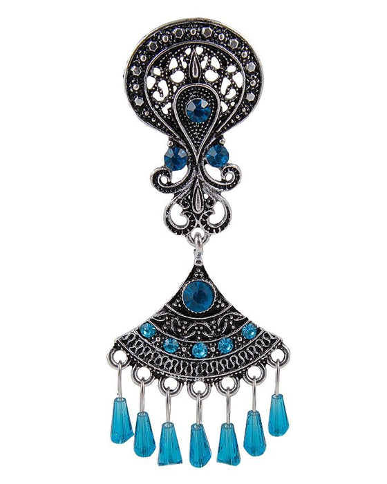 Style and Comfort Blue Stones Antique Ear Rings - ER-7308