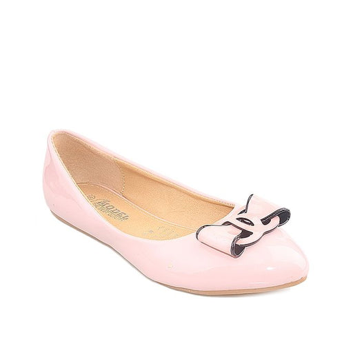 Maya Traders Pink Imported Leather Fancy Pumps For Women - J25