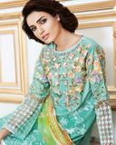Gul Ahmed Mint Festive Collection 2017 Eid Festive 3 Pc Premium Embroidered Chiffon-FE # 55 Unstitched