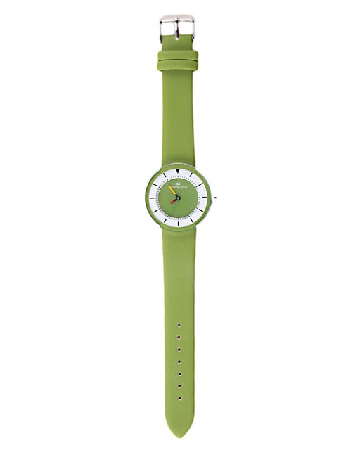 Style and Comfort Parrot Green Leather Watch for Women - LW-2157