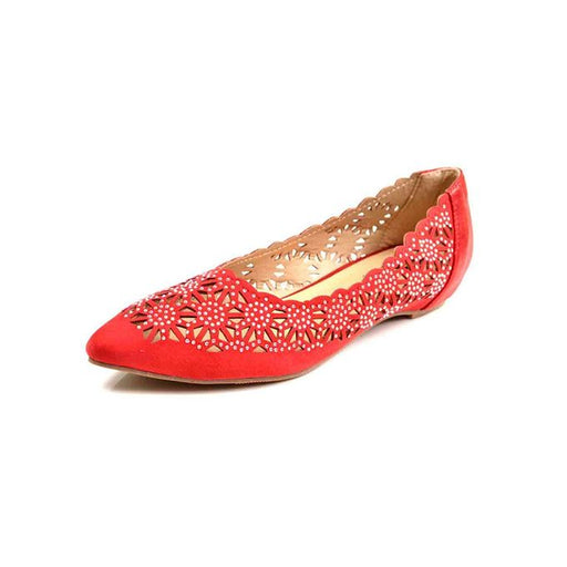 Metro Shoes Red Flat Close Shoes Pumps