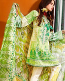 Gul Ahmed Green Spring/Summer 2017 Collection Embroidered Chantilly De Lace-CT # 199