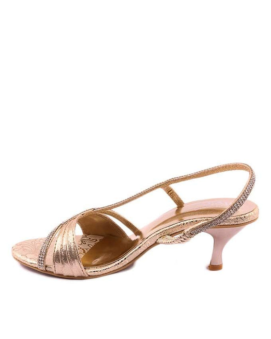 Stylo Shoes Golden Synthetic Leather Sandal For Women - L65723 - US Size