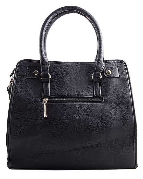 Contessa Stylish Black Leather Hand Bag for Women