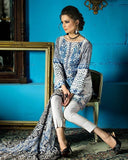 Gul Ahmed Off White Spring/Summer 2017 Collection Embroidered La Chiffon-C # 438