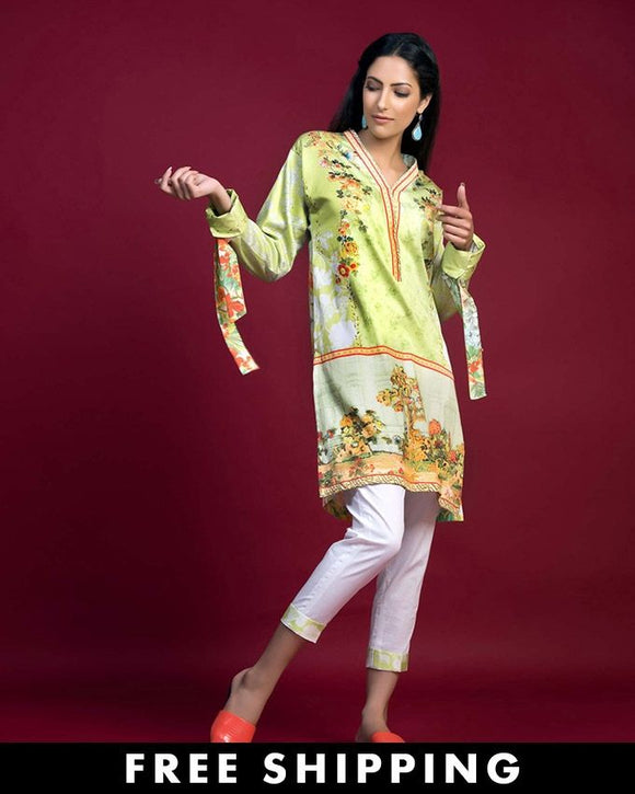 Gul Ahmed Parrot Green Winter Collection 2016SDS # 03 B