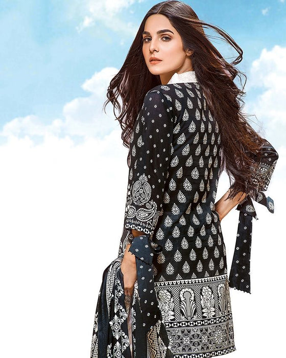 Gul Ahmed Spring/Summer 2017 Collection - Volume # 2 Black & White Embroidered  -CL-277