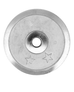 Nadiaz Chrome Single Weight Plate - 4kg - Silver