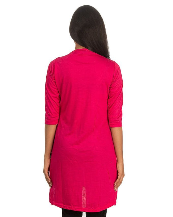 Golatees Pink Viscose  Shrug Style Top For Women