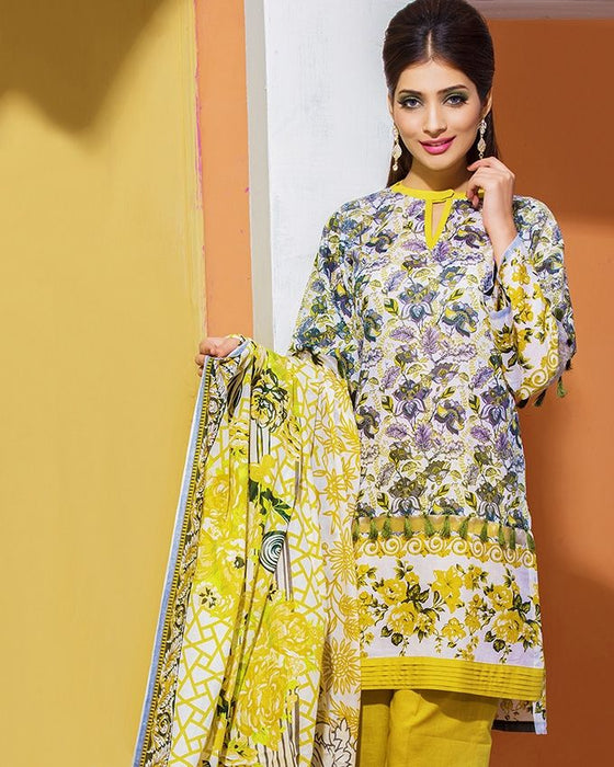 Gul Ahmed Green Spring/Summer 2017 Collection Printed Lawn-CL # 210 C