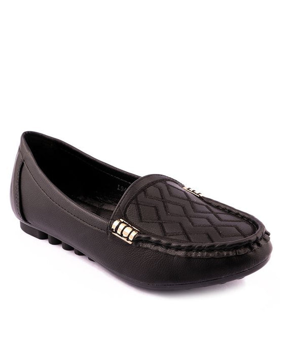 Stylo Shoes Black Synthetic Leather Loafers  -  L94986 - Euro
