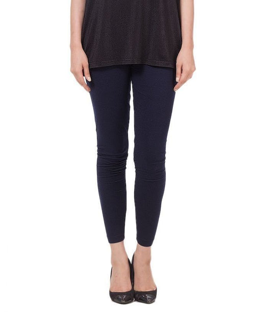 QK Styles Navy Blue Viscose Tights For Women