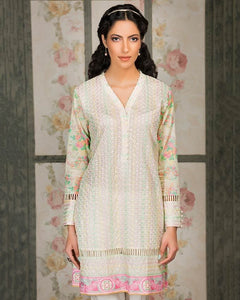 Gul Ahmed Cream Spring/Summer 2017 Collection Single Embroidered-SL # 335