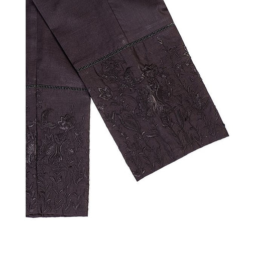 Tarzz Black Lawn Stitched Accessories EMB Trouser