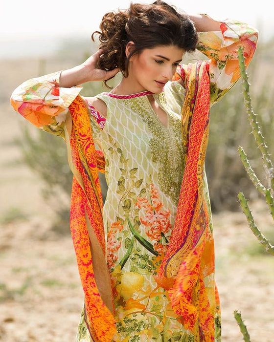Gul Ahmed Spring/Summer 2017 Collection - Volume # 2 Embroidered La Chiffon-C-476
