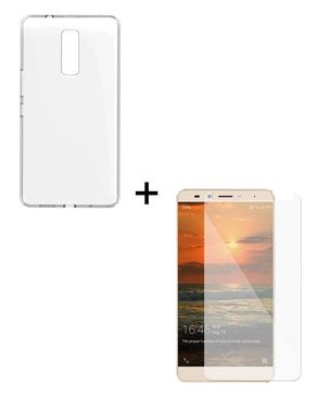 Tempered Glass Protector & Soft Case for Infinix Note 3 X601