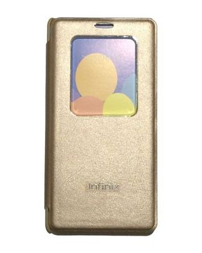 Infinix 3 in 1 - Leather Flip Case, Soft Case & Tempered Glass for infinix Hot 3 X554