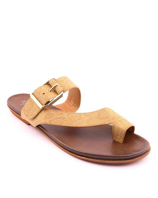 Stylo Shoes L87377 - Beige Synthetic Leather Sandal For Women - Euro Size