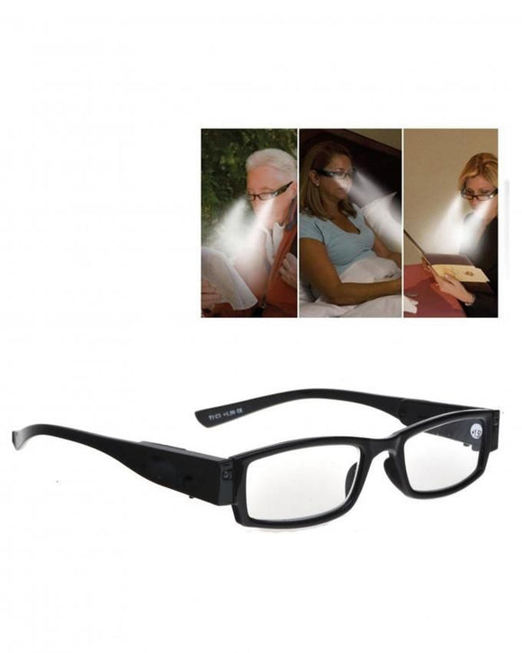 LED Reading Glasses Eyeglass Spectacle Diopter Magnifier Light