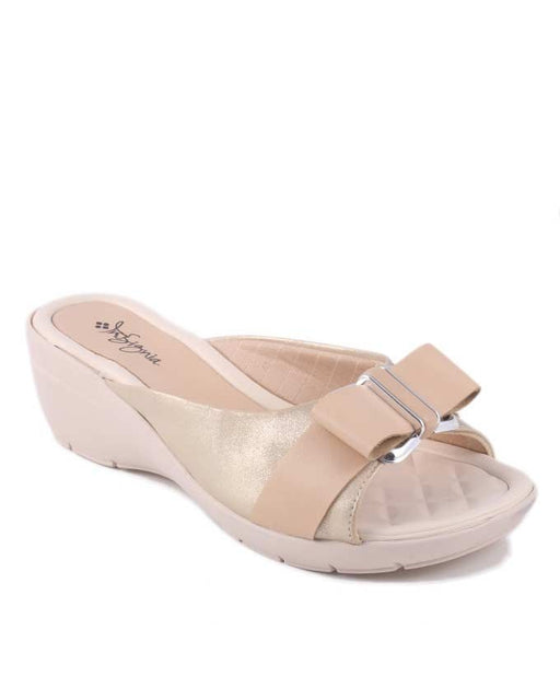 Insignia I17008- Fawn Synthetic Leather Wedges For Women - Euro Size