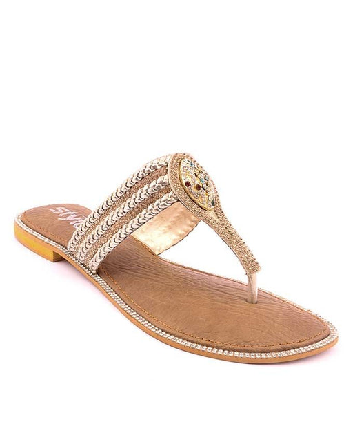 Stylo Shoes l87281 - Fawn Synthetic Leather Sandal For Women - US Size
