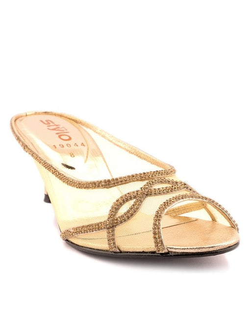 Stylo Shoes L19044 - Golden Synthetic Leather Heel - US Size