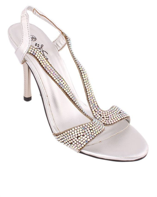 Insignia I23114- Silver Synthetic Leather Sandal - Euro Size