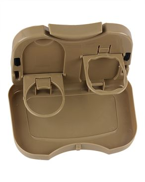 XUNOM Foldable Car Back Seat Travel Dining Tray - Beige