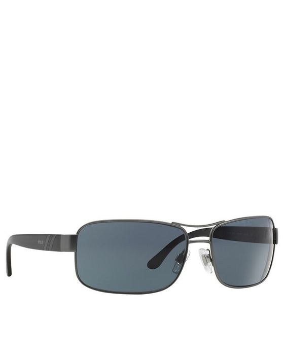 Metal Matte Gunmetal Frame Grey Lens Sunglasses