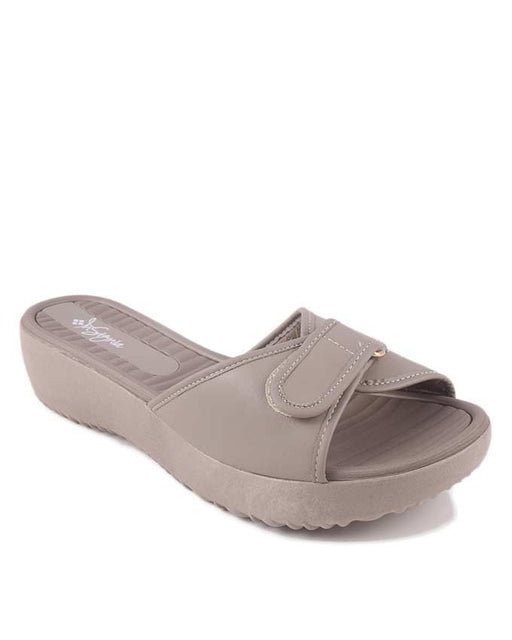 Insignia I17011- Fawn Synthetic Leather Slipper For Women - Euro Size