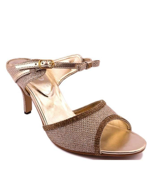 Stylo Shoes L19041 - Golden Synthetic Leather Heels for Women  For Women -  US Size