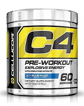 Cellucor C4 Preworkout with Creatin - 60 Servings - Icy Blue Razz