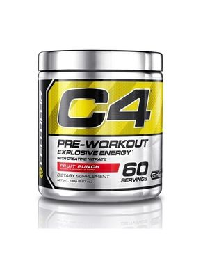 Cellucor C4 Pre Workout Supplements with Creatine - 60 Servings - Fruit Punch