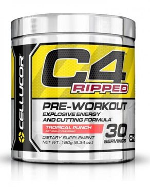 Cellucor C4 Ripped - Pre-Workout - Tropical Punch - 30 Servings