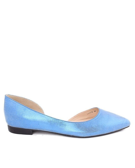 Insignia I41074- Blue Synthetic Leather Pumps - Euro Size